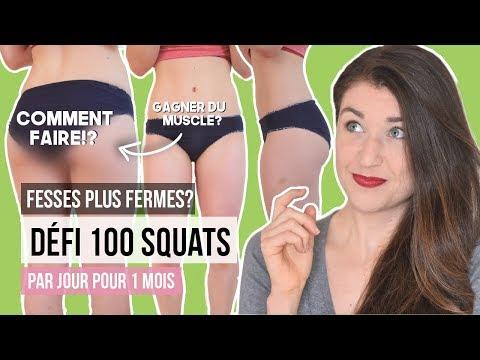 100 perte de poids de défi de squat
