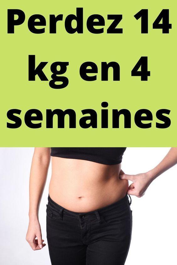 5 kg de perte de poids en 4 semaines perte de graisse abs