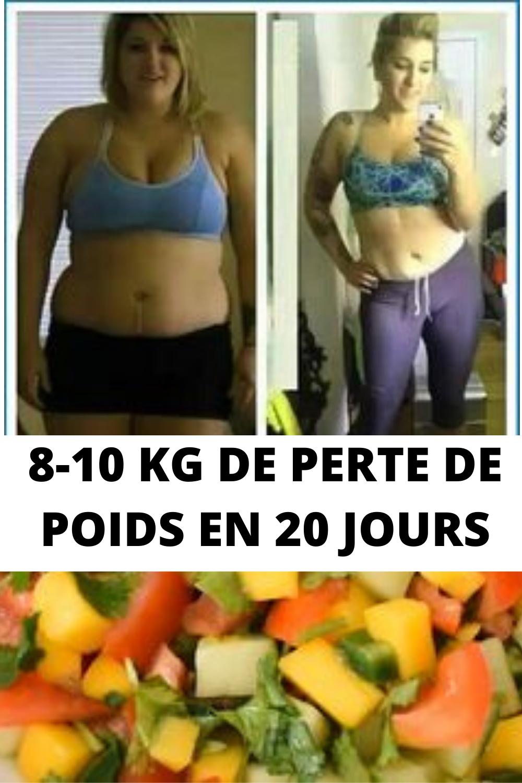 20 jours de perte de poids