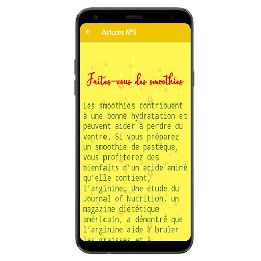 application Android pour perdre la graisse du ventre