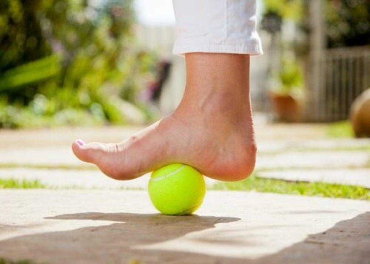 perte de poids avec une balle de tennis